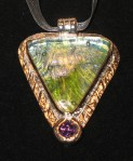 Close up of Dichroic andAmethyst
