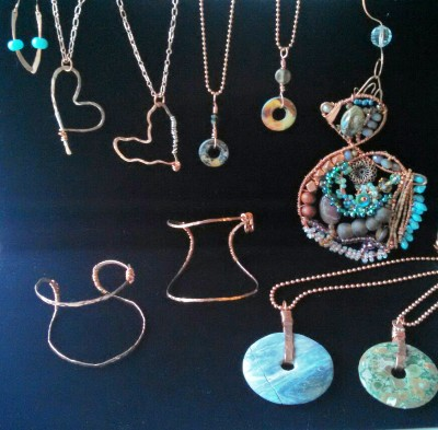 Coppery Christmas jewelry 2015